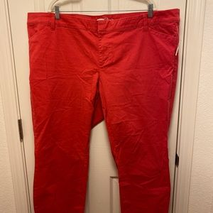 RED RINSED PIXIE PANTS BY OLD NAVY * 22 *